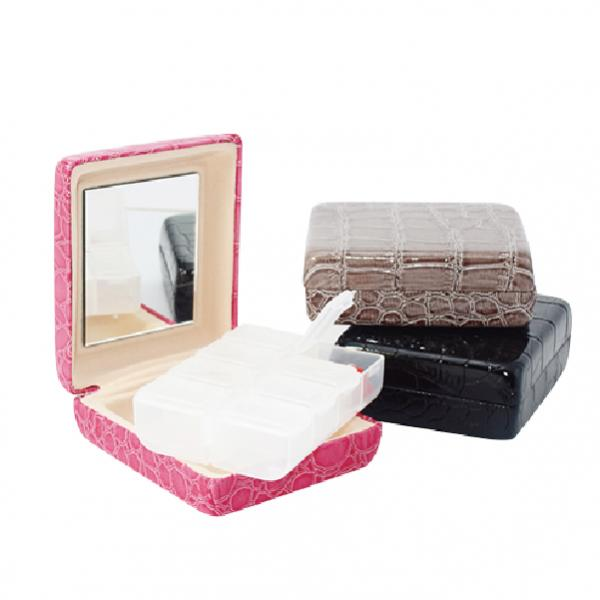 Pill organizer Pill Box & Mini Series & medicine box & Leather pill box